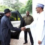 Jonathan Pays Second Visit To Buhari At Aso Rock
