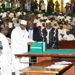 PHOTO NEWS: Buhari Presents 2016 Budget to Joint Session of NASS