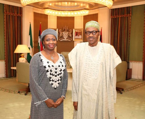 President Muhammadu Buhari appointed Hon Abike Dabiri-Erewa as his Senior Special Assistant on Foreign Affairs and the Diaspora. PHOTO; SUNDAY AGHAEZE/STATE HOUSE. FEB 15 2016
