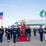 Photo News: Buhari Arrives Washington DC to Attend 4th Nuclear Security Summit (30th March, 2016)