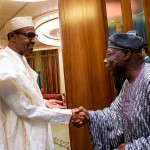 Photo News: Buhari Receives Obasanjo at Aso Rock, Thursday, April 07, 2016