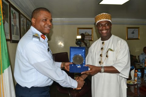 The Director General of the Nigerian Maritime Administration and Safety Agency (NIMASA) Dr. Dakuku Peterside and  Chief of Air Staff (CAS), Air Marshal Sadique Abubakar met on Thursday at Air Force Headquarters in Abuja.