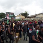 UNIPORT students on rampage