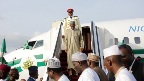 PRESIDENT BUHARI RETURNED FROM VACATION.