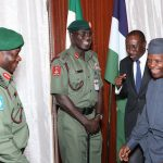 Militancy: Osinbajo Meets Behind Closed Door With Service Chiefs; Top Officials