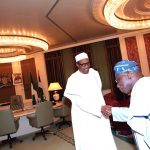 Obasanjo Visits Presidential Villa, Holds Closed Door Meeting with Buhari
