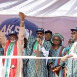 Ondo 2016: Buhari,  Saraki, APC Governors Attend Akeredolu Mega Rally, Call for Support