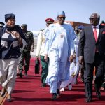 Gambia Impasse: Buhari, Johnson-Sirleaf, O)thers Arrive Banjul For Mediation