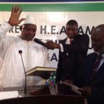 BREAKING: New Gambia President Adama Barrow takes oath in Senegal