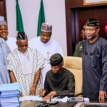 BREAKING: At last, After Buhari's Approval, Osinbajo Signs 2017 Budget