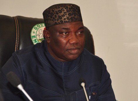 Image result for Ugwuanyi sacks three commissioners