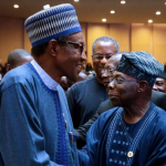 After 'Letter Bomb' Saga, Buhari, Obasanjo Meet at AU Summit