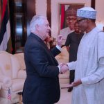 President Buhari receives U.S. Secretary of State, Mr Rex Tillerson (Photos)