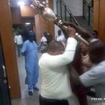 Angry Hoodlums Storm NASS During Plenary, Steal Senate Mace