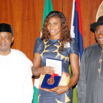 RECEPTION IN HONOUR OF THE SILVER MEDALIST BLESSING OKAGBARE AT THE PRESIDENTIAL VILLA ABUJA