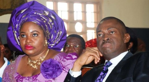 Gov. Chime and his wife Mrs Clara Chime at a function