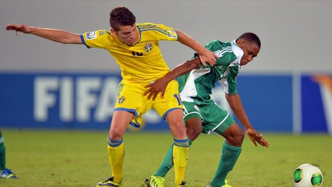 Nigeria vs Sweden during their Group F match