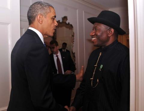 President Jonathan and President Obama