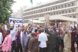 Protesting PHCN staff