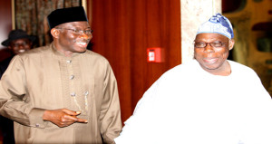President Jonathan and Ex-President Olusegun Obasanjo exchanges banters when the going was good.