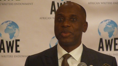 Gov. Rotimi Amaechi at African Writers Award in New Jersey