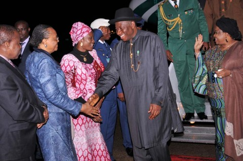 PRESIDENT JONATHAN ARRIVES NEW YORK FOR UN GENERAL ASSEMBLY IN NEW YORK