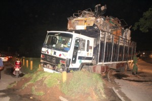 Truck in Lagos Crashes Into Festac Link Bridge Green Zone