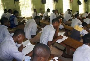 Students writing WAEC Exams