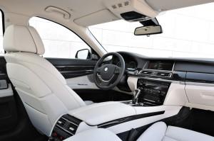 Interior of a 2014 750LI BMW
