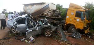 Scene of the Ebonyi ghastly car crash