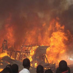 Breaking: Early Fire Outbreak Touches Balogun, Makoko Plank Markets