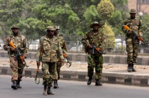 Nigerian Soldiers in this undated photo