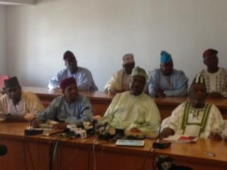 Opposition Senators led by George Akume