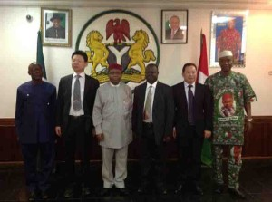 Governor Orji receives at the Government house, Umuahia a delegation of the NORINCO Group of China