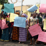 Demolition:Traders Protest Against Oba Ojora