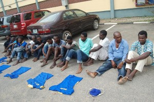 Cultists paraded by Lagos State Police Command