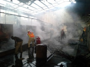scene of the fire
