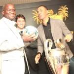 Ruud Gullit In Lagos As Fashola Receives UEFA Champions League Trophy