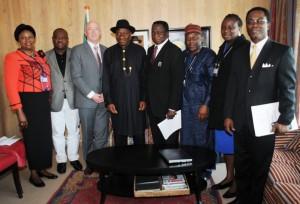 President Jonathan in Netherland