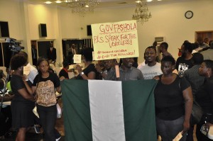 Some of the protesters at the State House, Ikeja