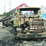 5 Vehicles Burnt As Fire Razes Mobil Petrol Station In Lagos