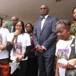 Photo News:  Gov. Fashola Receives Women Arise For Change Initiative Protesting Abduction of School Girls In Chibok, Borno State