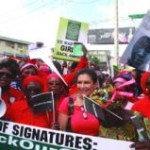 Thousands Protest In Lagos Over 234 Abducted Chibok Girls