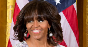 First lady of United States President, Michelle Obama