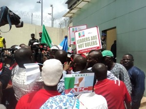 Protesters in Lagos
