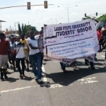 LASU Students On Rampage In Lagos Over Increase In Fees