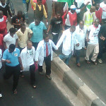 Doctors Protest In Lagos Against Members' Sack