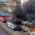 8 BRT Buses Burnt, Thousands Stranded As Soldiers Go On Rampage On Ikorodu Road