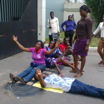 Fashola's Office Shut As LASU Part-Time Students Protest