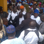 Thousands As Ambode Formally Declares For Lagos Governorship Seat